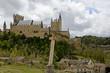 Christian Cross in front of the Alcazar de Segovia