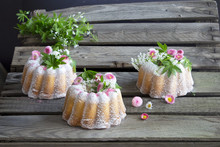 Cake With Woodruff And Flowers