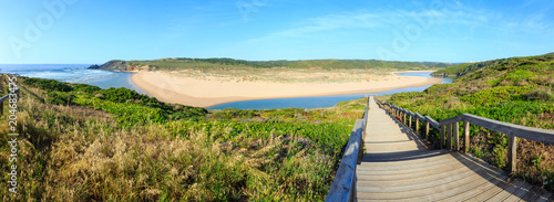 Wall Murals Blue Aljezur river summer view (Portugal).