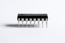 Closeup Of Integrated Circuit Chip
