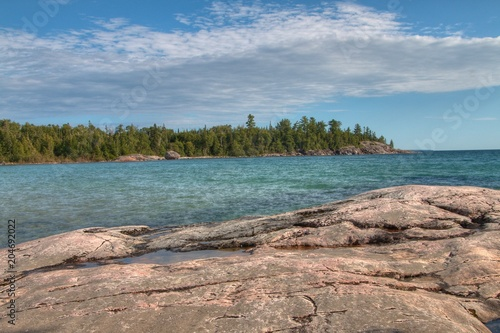 Fotografie, Obraz  Lake Superior Provincial Park is on the Shore of the Lake in Northern Ontario, C