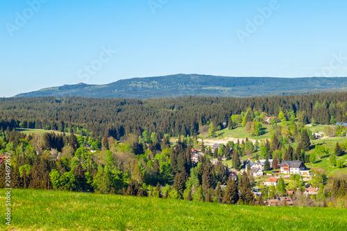 In de dag Pool Summer landscape of Jizera Mountains from Bedrichov, Czech Republic.