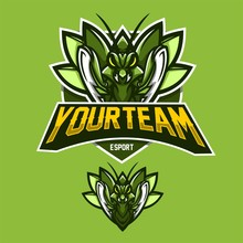 Grasshopper/mantis Esport Gaming Mascot Logo Template