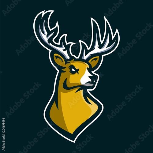stag deer esport gaming mascot logo template buy this stock vector