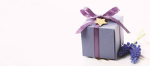 Little Purple Gift Boxes With Lavender Sprigs
