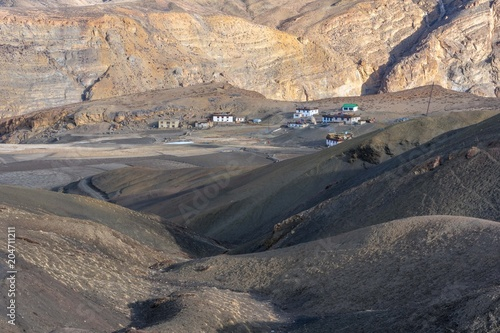 Foto op Aluminium Arctica Amazing Landscape in Langza Village - Spiti