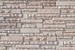 White stack cement brick wall background, pattern and texture