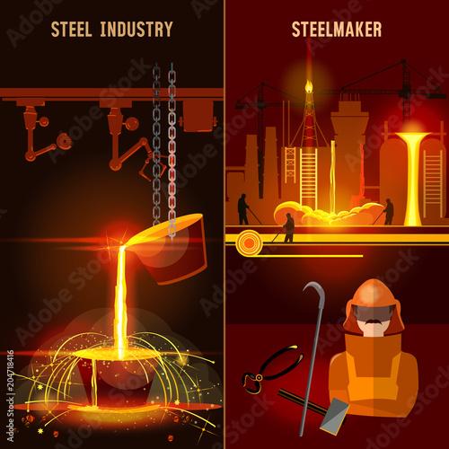 Valokuva  Steel industry set