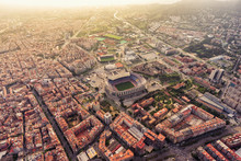 Aerial View Of Barcelona Camp ...