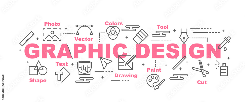 Fototapeta graphic design vector banner