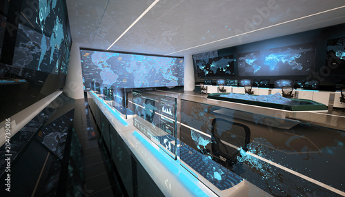 Command center, control room, futuristic design, smart cities, data center, cryptocurrency