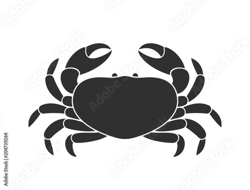 Crab logo. Isolated crab on white background Wallpaper Mural