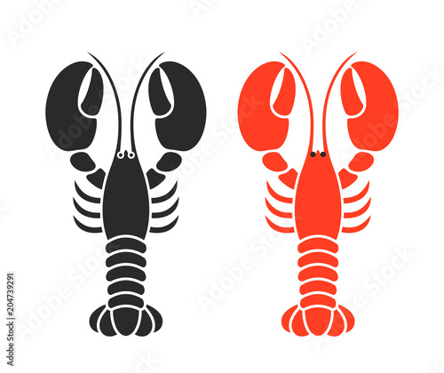 Obraz na plátně Lobster logo. Isolated lobster on white background