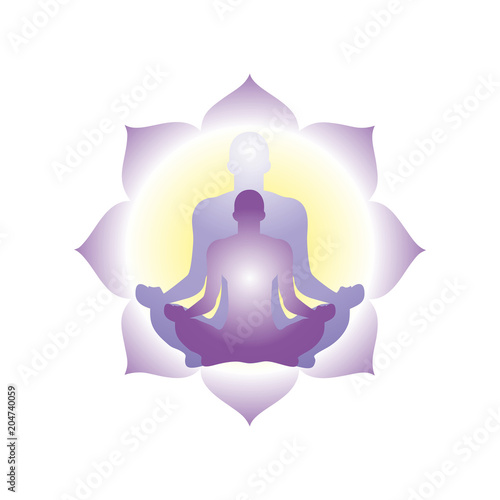 Papel de parede  meditation in Lotus pose