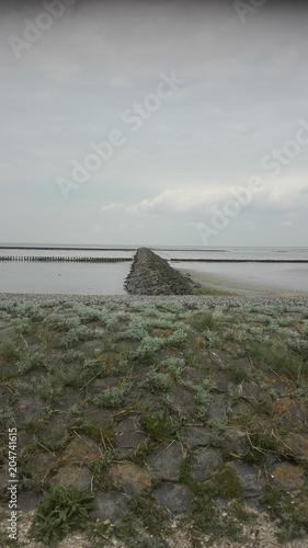 In de dag Noordzee Trischendamm