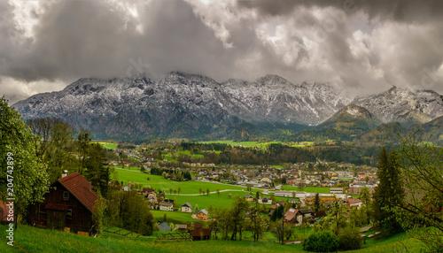 Foto op Plexiglas Donkergrijs Spring Alpine Landscape