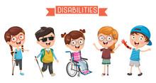 Vector Illustration Of Disabil...