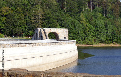 Fotobehang Dam Staudamm