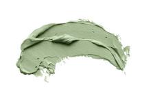 Blue Clay Facial Mask Smear On...