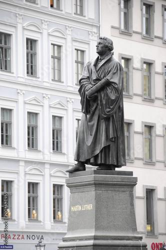 Martin Luther Denkmal auf dem Neumarkt, Dresden, Freistaat Sachsen, Deutschland, Europa Fototapete