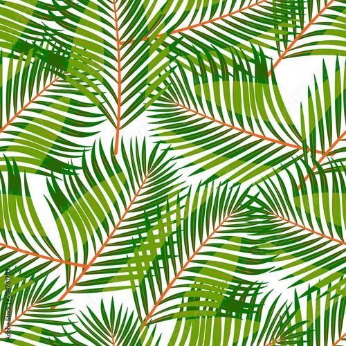 Ingelijste posters Tropische Bladeren seamless green tropical leaves