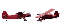 Vintage Red Airplane Set Isola...