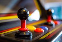 Joystick Of A Vintage Arcade V...