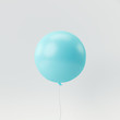 canvas print picture - Blue balloon on white background. minimal concept.