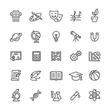 School Subjects Related Icons:...
