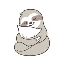 Cute Sleepy Sloth