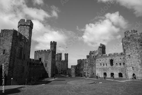Foto op Plexiglas New York TAXI Festungsanlage in Wales