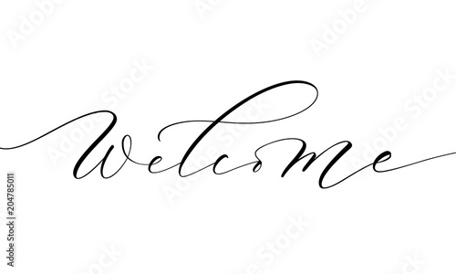 Welcome lettering Wallpaper Mural