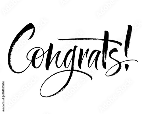 Congrats lettering Canvas-taulu
