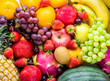 Fresh fruits.Assorted fruits colorful,clean eating,Fruit background
