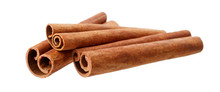 Cinnamon Sticks Isolated On Wh...