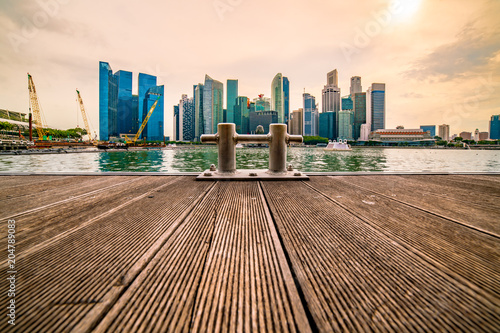 Staande foto Aziatische Plekken At the Heart of Singapoer... Panoramic View of City