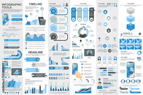 Photo  Infographic elements data visualization vector design template.