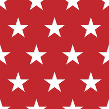 Seamless Patterns Made From White Five Pointed Stars