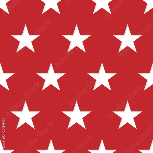Cotton fabric Seamless patterns made from white five pointed stars