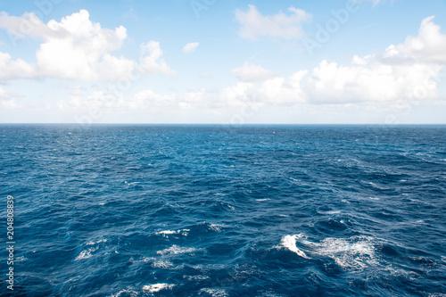 Poster Zee / Oceaan Blue sea sky clouds Nature landscape background