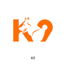 K9 Logo Isolated On White Back...