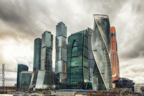 Business center Moscow City Fototapet