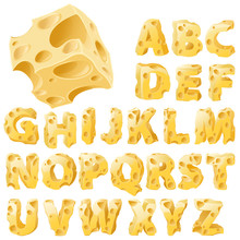 Cheese Letters Set.