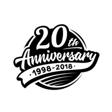 20 Years Anniversary Design Te...