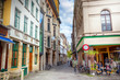 canvas print picture - Street of Gent, Belgium