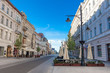 Charming view of Piotrkowska street worth seeing of Lodz city center
