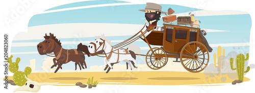 Obraz na plátne Diligence de western
