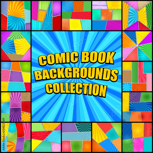 Bright comic book backgrounds collection - Buy this stock