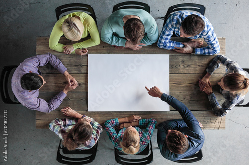 Fototapety, obrazy: Business teamwork meeting concept