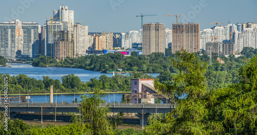 Wall Murals Place of worship panorama of the sunny spring kiev